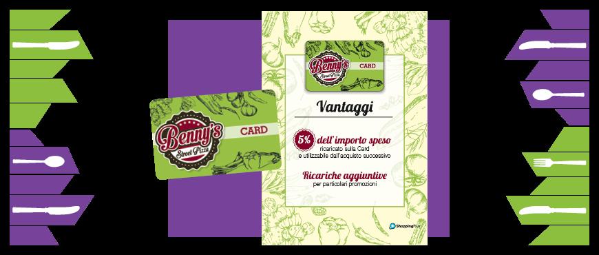 esempio locandina fidelity card con gusto