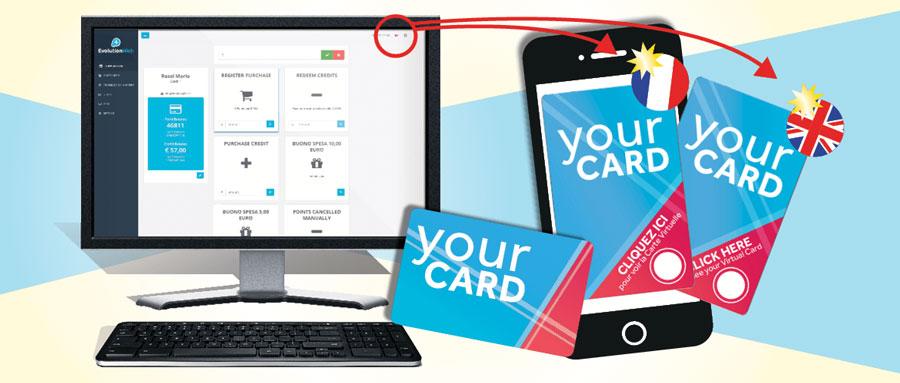 EvolutionWeb Multilingua con Card e Card virtuale