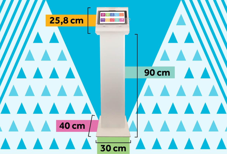 informazioni, pubblicità, promozioni: fidelity card e mini-kiosk per negozi - dimensioni base