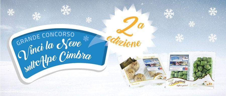 """concorso a premi instant win """"vinci la neve sull'alpe cimbra seconda edizione"""""""