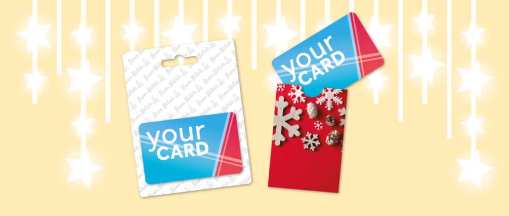 packaging gift card natale