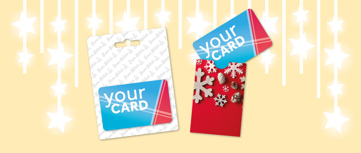 packaging gift card natale