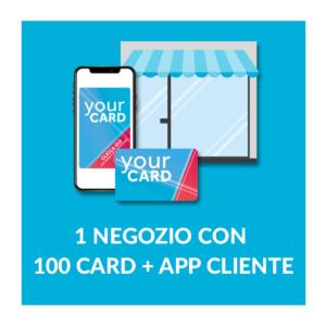 1 negozio con 100 Card e App cliente