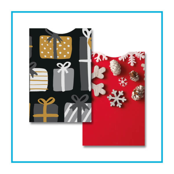 porta gift card astuccio sleeve natale e neutro