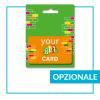 Porta Gift Card Talloncino appendibile personalizzato - opzionale