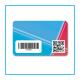 Card con barcode e QR code - opzionale