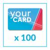 100 Card in PVC