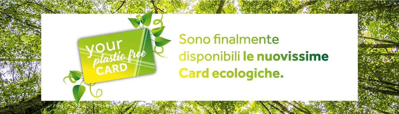 Card ecologiche, plastic free