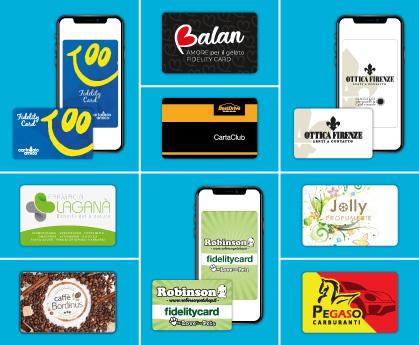 Esempi Fidelity Card in PVC e virtuali