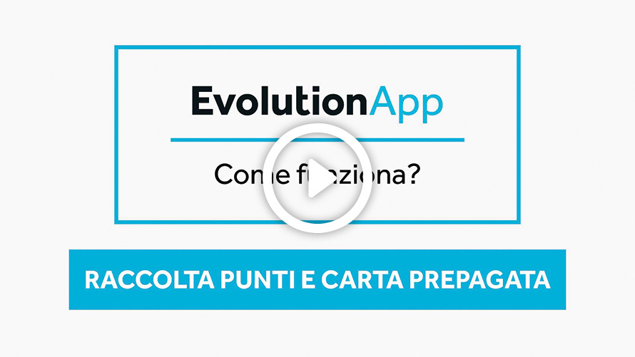 Videotutorial EvolutionApp Raccolta punti e Carta prepagata